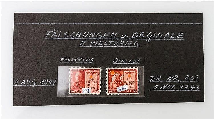 Kriegs- und Propagandafälschungen - Propagandafälschung der MiNr. 863 vom Deutschen Reich.