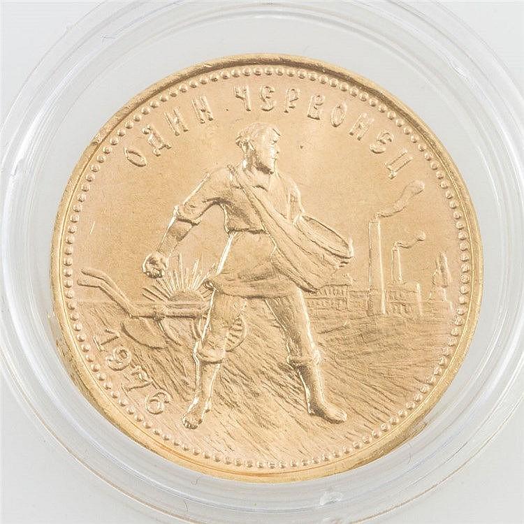 Russland/GOLD - 10 Rubel 1976, Tscherwonez, vz.,