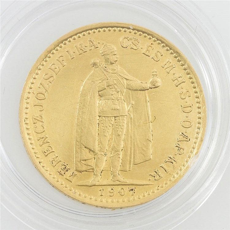 Ungarn/GOLD - 10 Kronen 1907, Franz Joseph I., ss.,