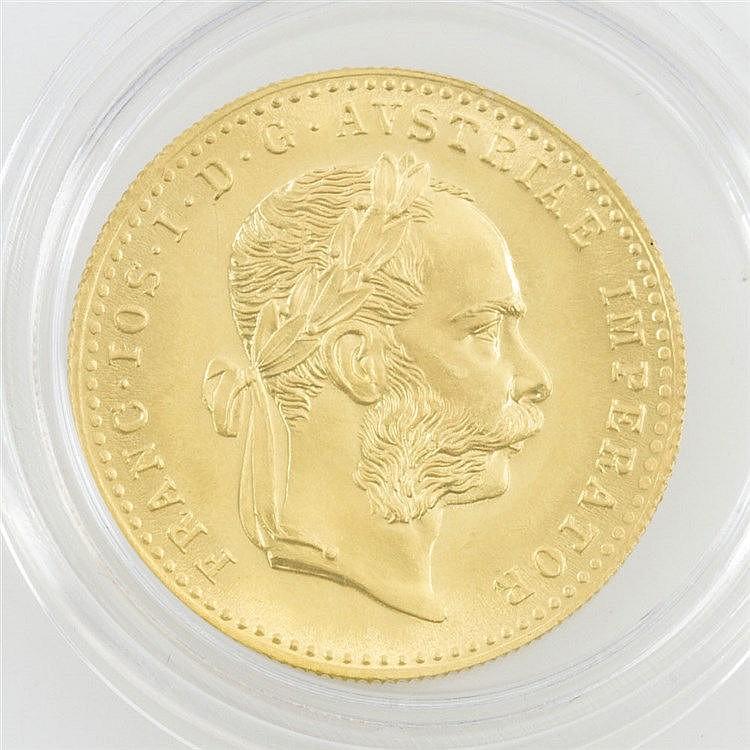Österreich/ GOLD - 1 Dukat 1915/NP, Franz Joseph I, vz.-stgl.,