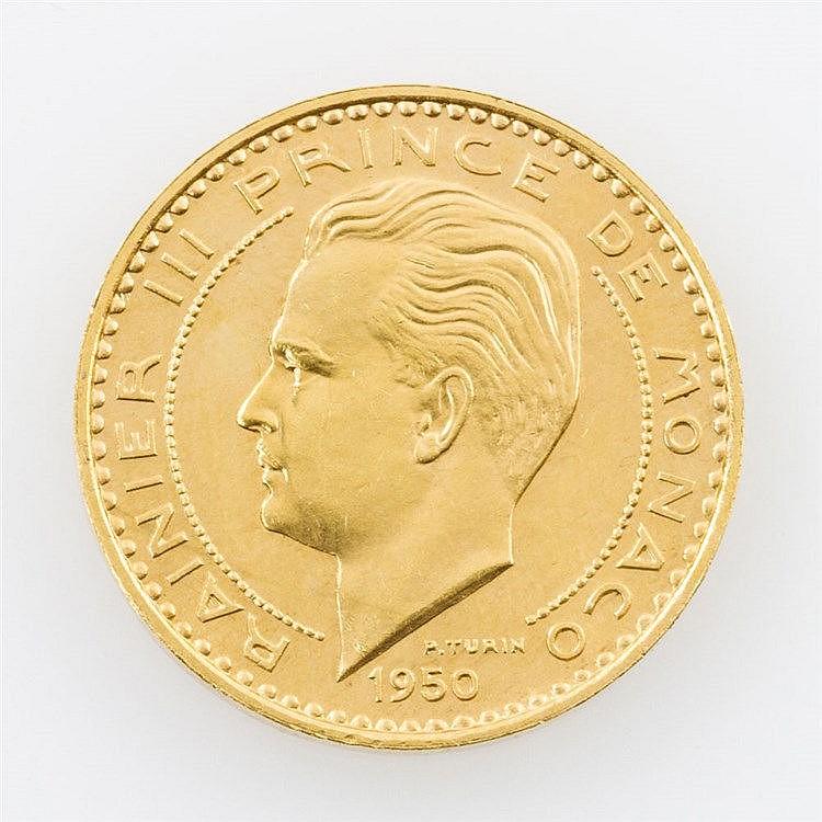 Monaco/ GOLD - 20 Francs 1959, Rainier III., vz - stgl.,