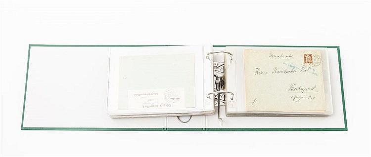 Briefmarken - Ordner mit ca. 90 Briefen und Karten Deutschland und übriges Europa,