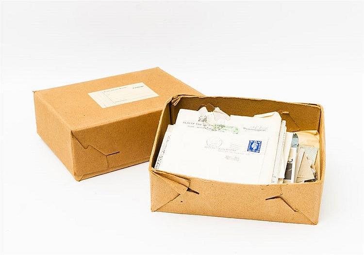 Briefmarken/ Briefe/ Karten - 2 Schachteln mit einer Korrespondenz nach Thailfingen,