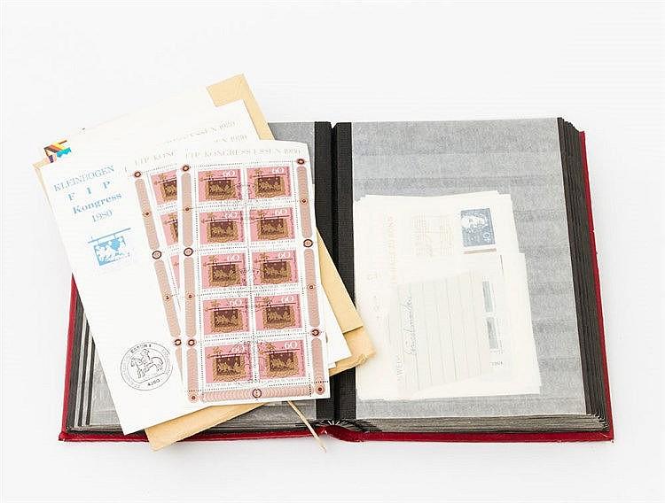 BRD - kleines Steckbuch, prall befüllt mit modernen Blockausgaben,