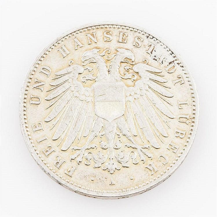 Lübeck - 5 Mark 1907/A,