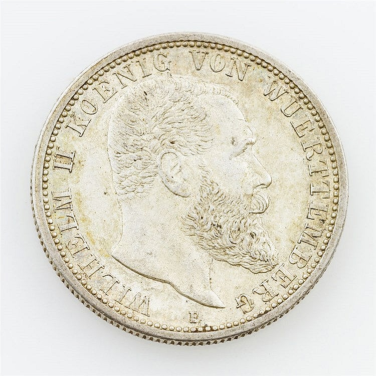 Württemberg - 2 Mark 1912/F, Wilhelm II.,