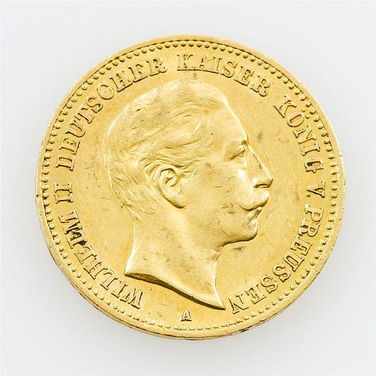 Preussen - 10 Mark 1903/A, Wilhelm II., vz.,