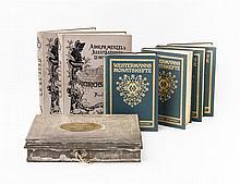 7-teiliges Konvolut Bücher und Buchkassette, 19. und 20. Jh.