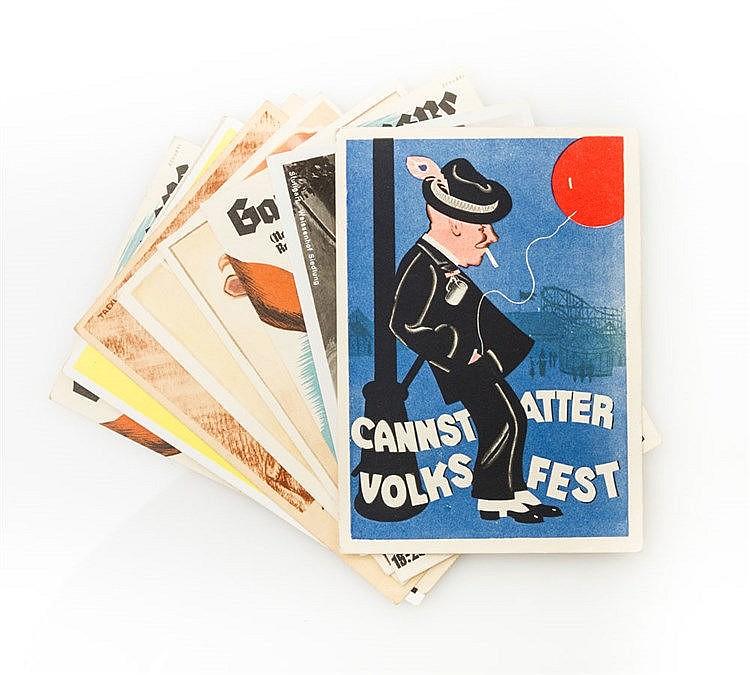 III. Reich - 13 Karten, meist Propaganda, dabei auch Aufnahme Stuttgart Weissenhof Siedlung,