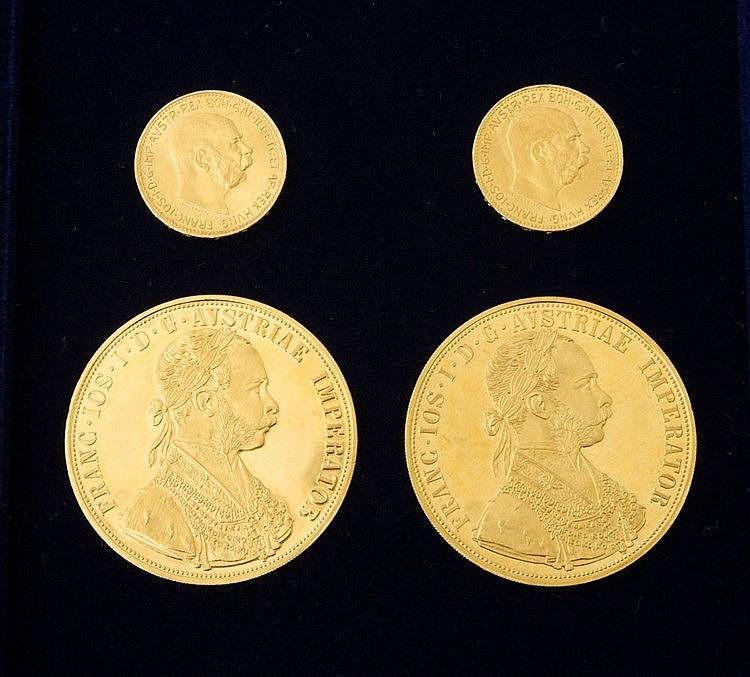 Österreich/ GOLD - 2 x 20 Kronen Neuprägung 1915 und