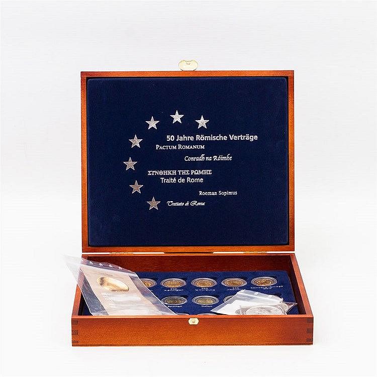 Konvolut - Sammlung 18 x 2 Euro Römische Verträge (2007),