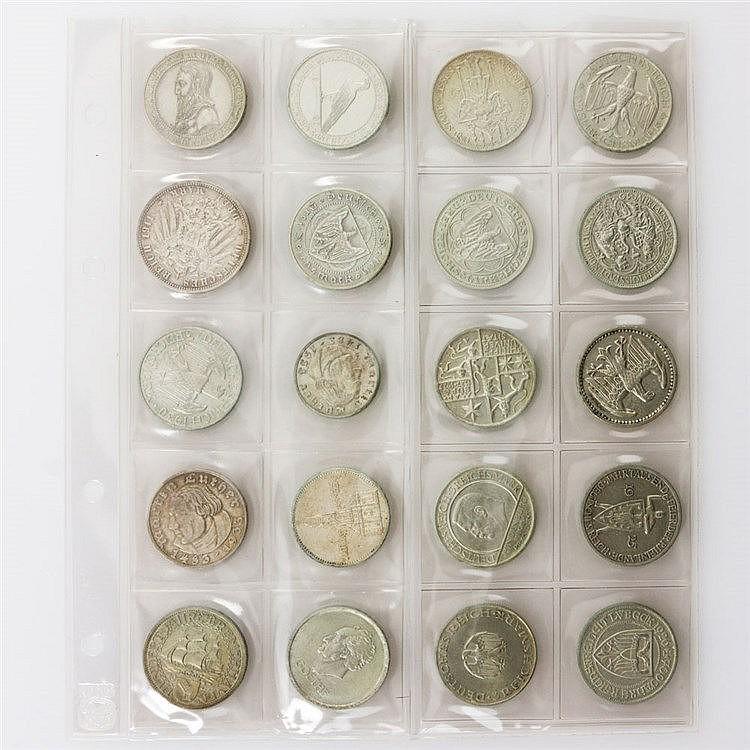 Dt. Reich - Sammlungsteil von 20 Münzen,