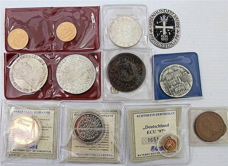 Fundgrube, mit GOLD - Restsammlung, dabei u.a. Frankreich 20 Francs 1875/A, Niederlande 10 Gulden 1917,