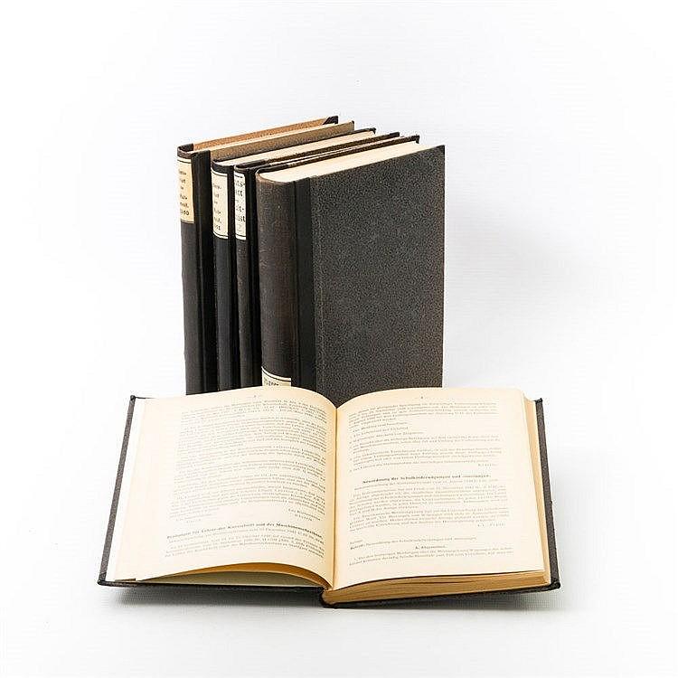 Nachkriegszeit - Bücherkonvolut: 5 Bände 'Amtsblatt des Kultministeriums' von Württemberg,