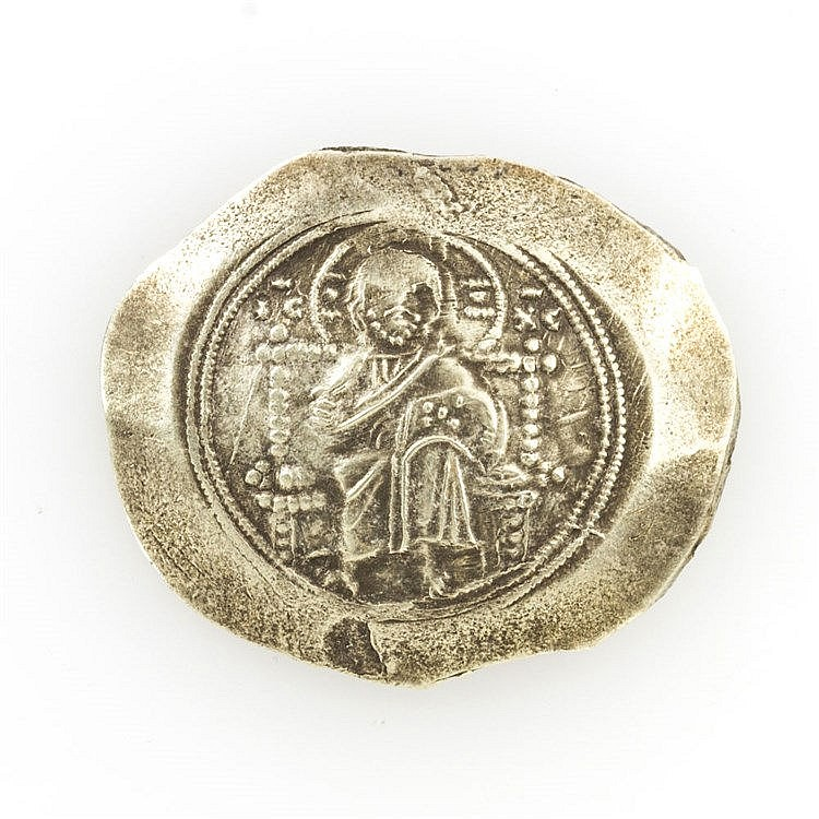 Byzanz / Nikephoros III. (1078-1081) - Histamenon, Konstantinopel, Christus thronend frontal, im Feld: I_C X_C / N. III. stehend frontal - Umschrift schwer lesbar,