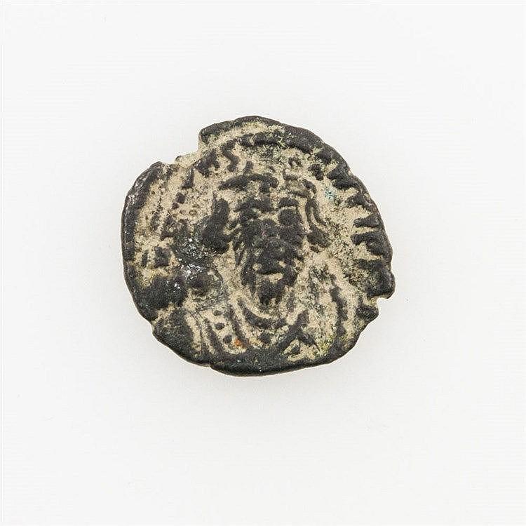 Byzanz - AE Halbfollis (656-662 n. Chr.), Constans II.,