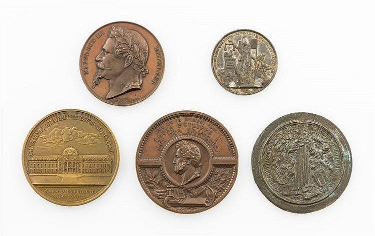 Frankreich / Medaillen - Konvolut: 4 + 1 Stück: