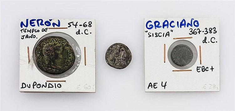 Antike - Konvolut von 3 Münzen,