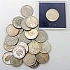 Nachlass - u.a. 23 x 10 DM, 22 x 5 DM, Goldmedaille Mondlandung 3,75 Gramm rauh, 986er,