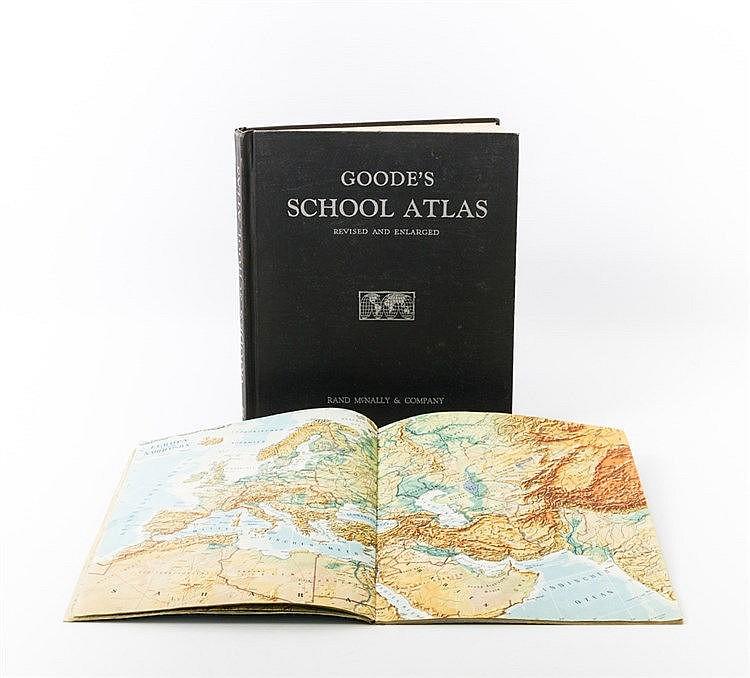 Amerikanischer Schulatlas 1943 für den Gebrauch an Schulen in der amerikanischen Besetzungszone