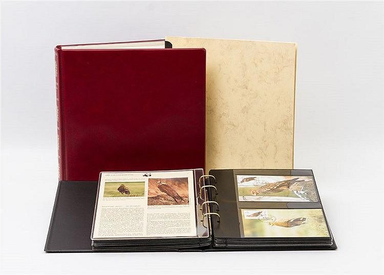 Briefmarken-Thematik: 1 offizieller Band WWF mit Marken, Briefen und Maximumkarten aus aller Welt (Karten und Briefe allein über 90 Stück).