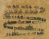 5 seltene handkolorierte Kreidelithographien, Württemberg, 19.Jh. - 5-teiliger Bilderzyklus