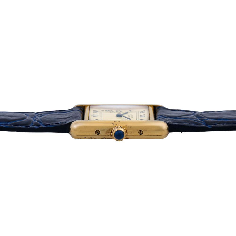 Cartier Tank Vermeil Vintage Damen Uhr, Ref. 5057001