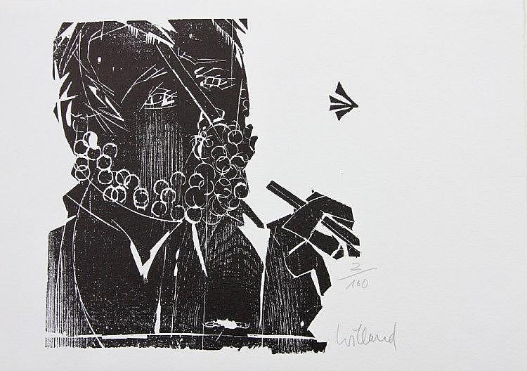 WILLAND, DETELF (1935): Selbst zeichnend, 20. Jhd.,