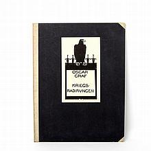"""GRAF, OSKAR (1870-1957): Mappenwerk (unvollständig) """"Kriegsradierungen"""", 1914/15,"""
