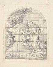 SCHWIND, MORITZ VON (1804-1871): Bleistiftskizze mit Koordinatensystem,