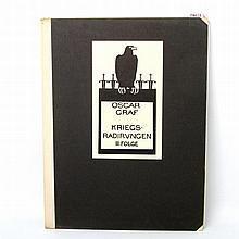 """GRAF, OSKAR (1870-1957): Mappenwerk (unvollständig) """"Kriegsradierungen, III. Folge"""", 1917/18,"""