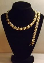 Massive italian 14K necklace set