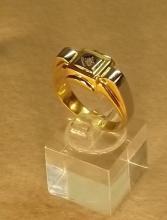 French deco ring 22K diamond