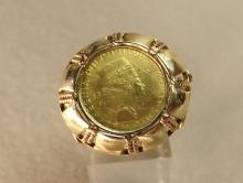 Coin ring 60s 22k