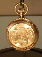 Waltham box hinge pocket watck solid gold case