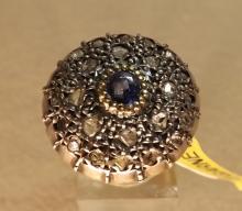 Antique Sapphire and diamond ring 14k