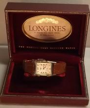Longines wrist watch 14K serviced and timed 44mm