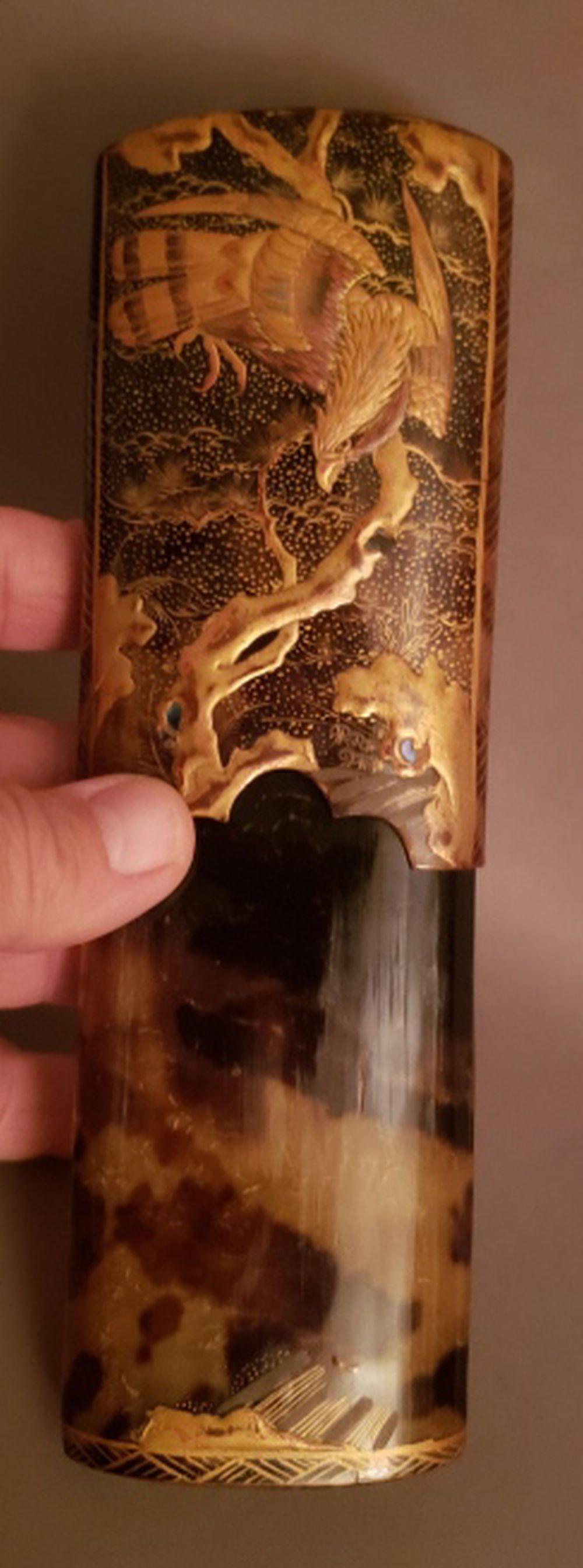 Antique Decorated Tortoiseshell Cigar Case