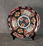 19th C Imari porcelain charger with chop mark on