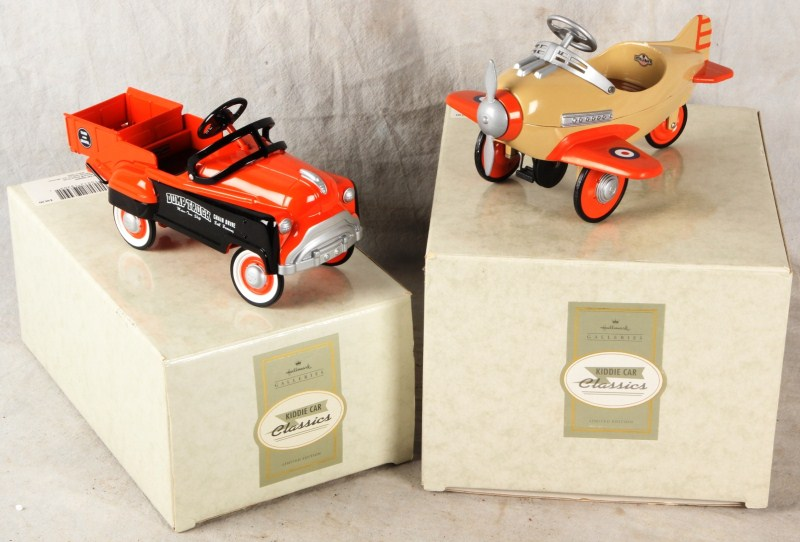 104 MIB HALLMARK KIDDIE CAR MURRAY DUMP TRUCK STEELCRAFT SPITFIRE PLANE PEDAL