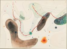 WILLIAM L'ENGLE, WEATHER MAP, MIXED MEDIA, 9/11/50