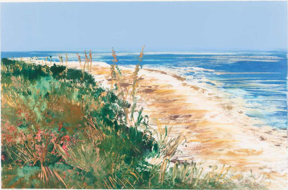MARGARET PETERSON, ALONG THE SHORE, PASTEL AND W/C