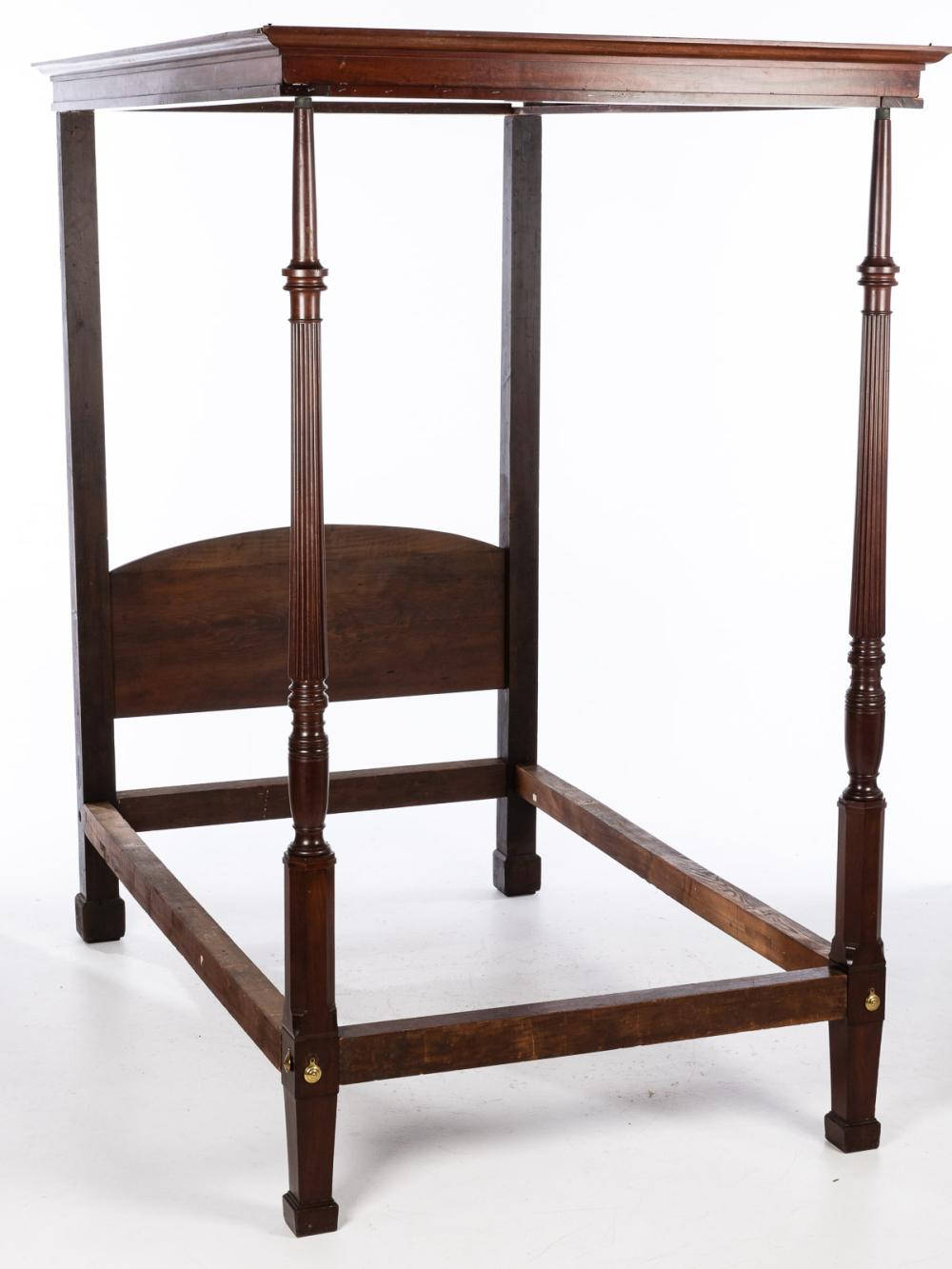 GEORGE III MAHOGANY FOUR POSTER BED, C. 1800
