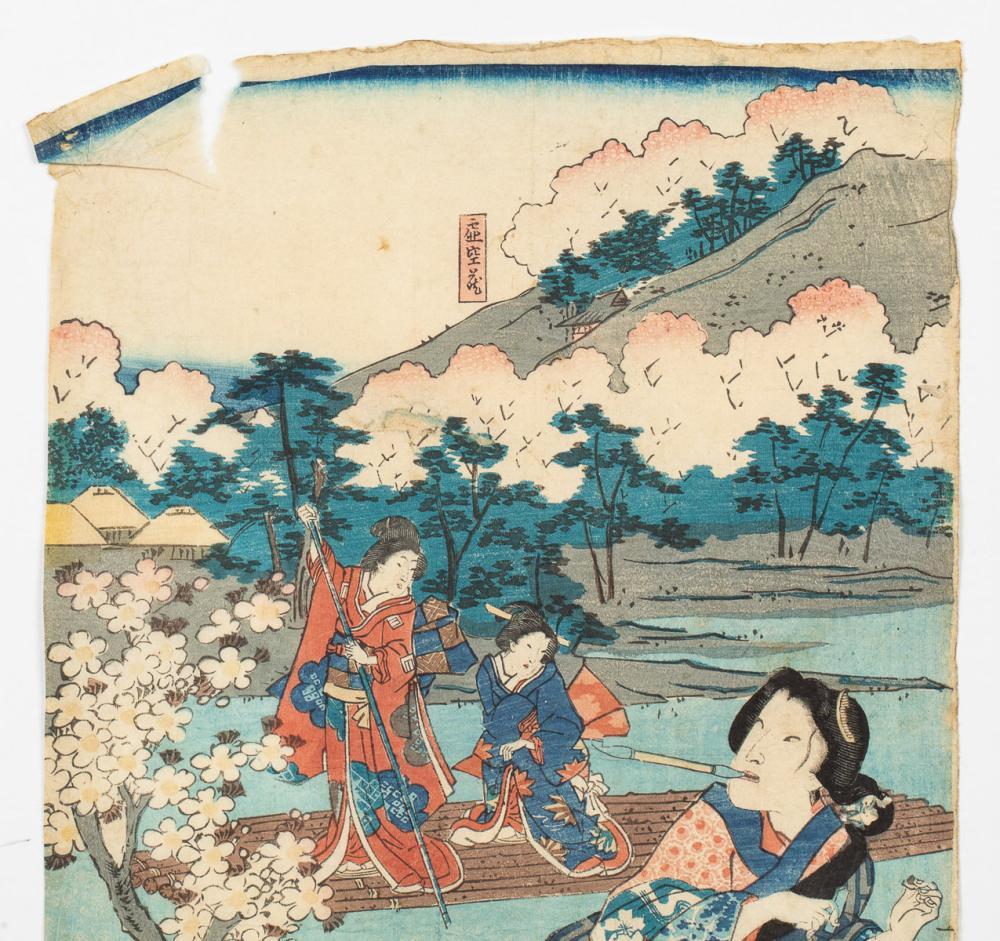 TOYOHARA KUNICHIKA, EXCURSION TO ARASHIYAMA IN KYOTO