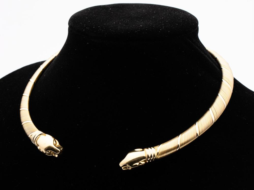 CARTIER 18K GOLD PANTHER NECKLACE