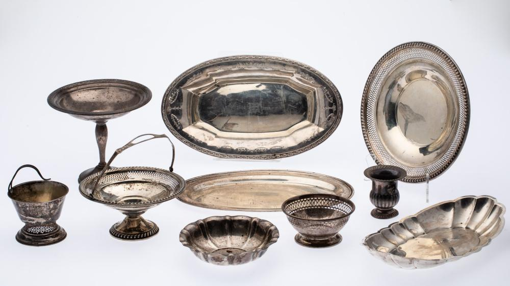 10 MISCELLANEOUS PIECES OF STERLING SILVER