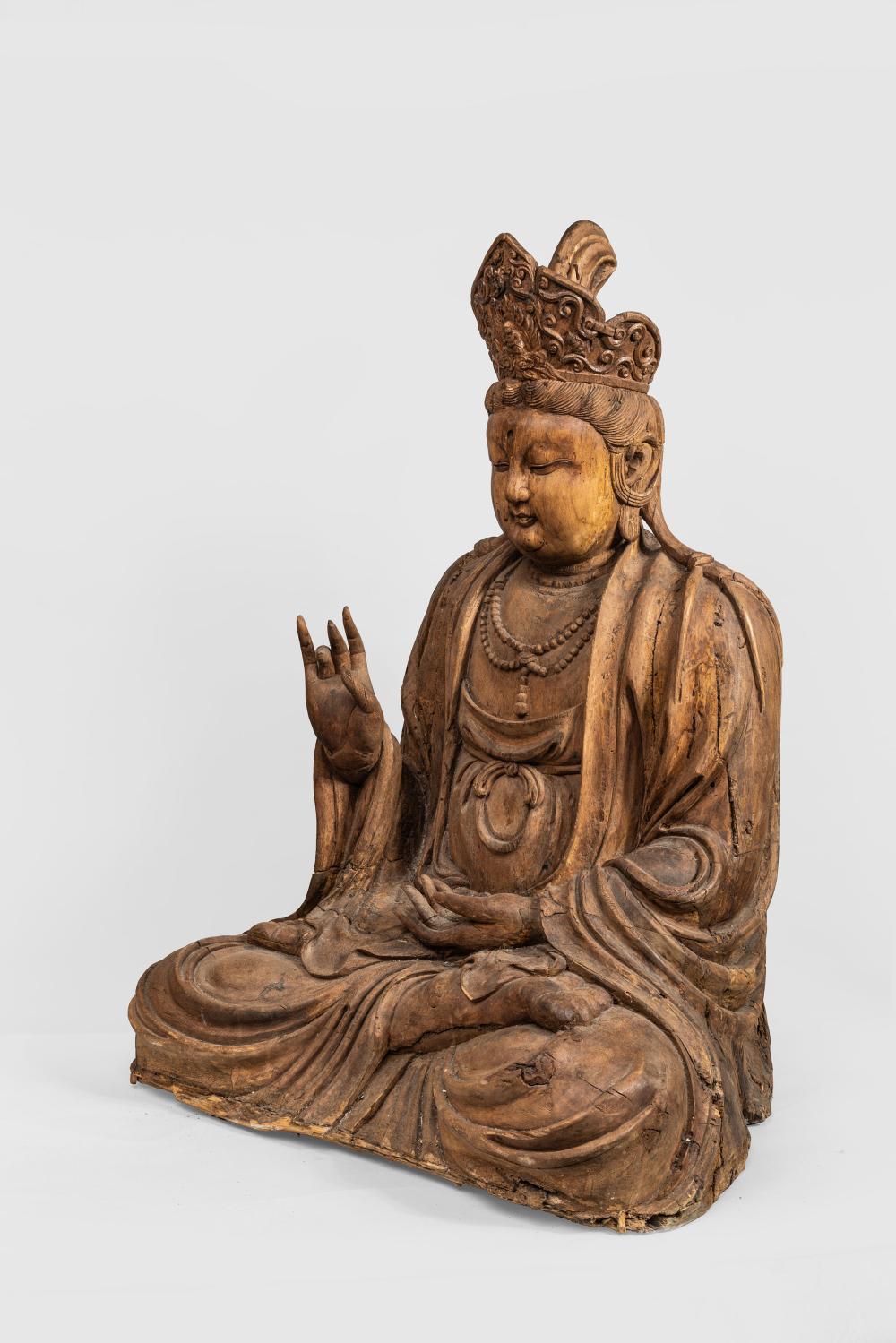 Le Boddhisattva Kwan Yin assis