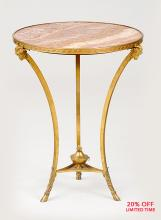 A Fine Quality French Louis XVI Style Gilt-Bronze and Marble-Top Guéridon