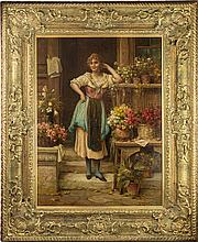 The Florist by Hans Zatzka
