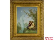 A Finely Painted Large Berlin (K.P.M.) Porcelain Plaque